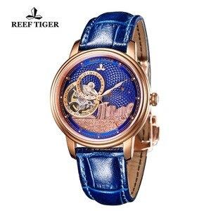 Image 5 - ساعة يد فاخرة للرجال ماركة ريف تايجر/RT تصميم كلاسيكي أوتوماتيكية ساعة يد من الياقوت والكريستال والذهبي الوردي RGA1739