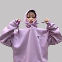 Mosaic   Hoodies     Sweatshirts   2018 Women Pullover Thick Loose Female Casual Student Tracksuit Sportswear BF Coat Harajuku Oversiz