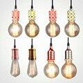 Винтажный LED деревянный подвесной светильник художественная столовая современная Подвесная лампа E27 скандинавские подвесные светильники ...