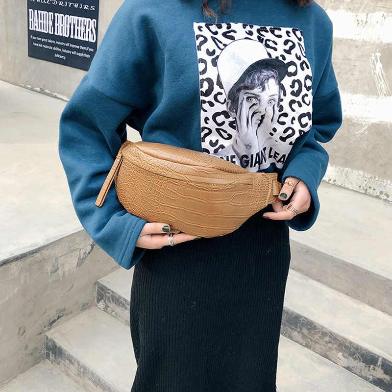 新ファッション石のパターンのショルダーバッグウエストバッグ女性ウエストファニーパックベルトバッグ高級ブランド革胸高品質ハンドバッグ