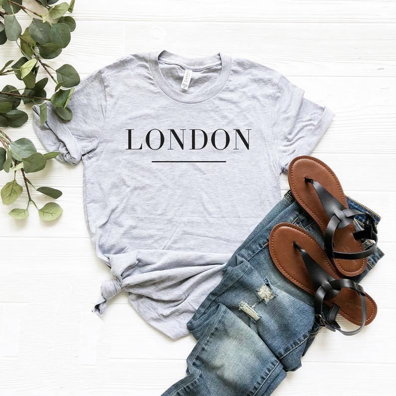 Impressão de londres camiseta feminina casual algodão hipster engraçado para lady yong menina topo t navio da gota ZY-221