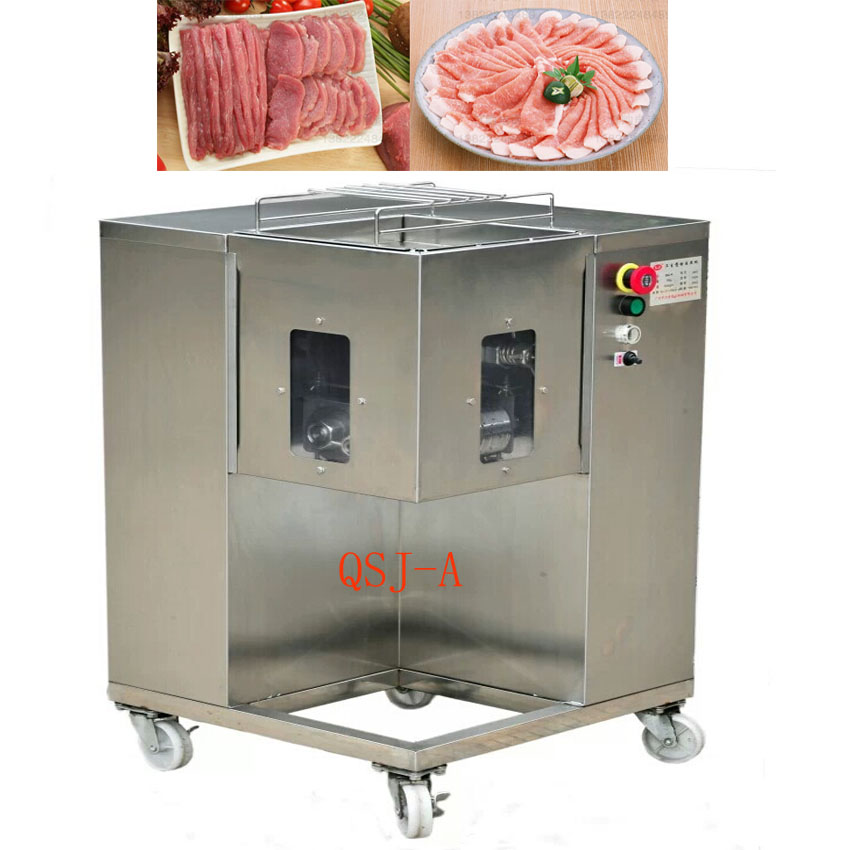 500KG/H Multifunction Meat Cutting Machine Commercial Meat Slicer QSJ-A Stainless Steel Meat Dicing Cutter 110v/220v/380v 1pc