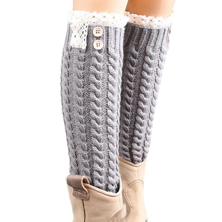 Women's Socks & Hosiery Clever Leg Warmers Women Winter Warm Solid Twist Knitting High Elasticity Breathable Womens Legs Warmer All-match Simple Kawaii Leisure For Sale Leg Warmers