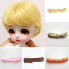 5CM Doll Fringe Hair Black White Khaki Red DIY Wigs Handmade Short Curly Bang Accessories