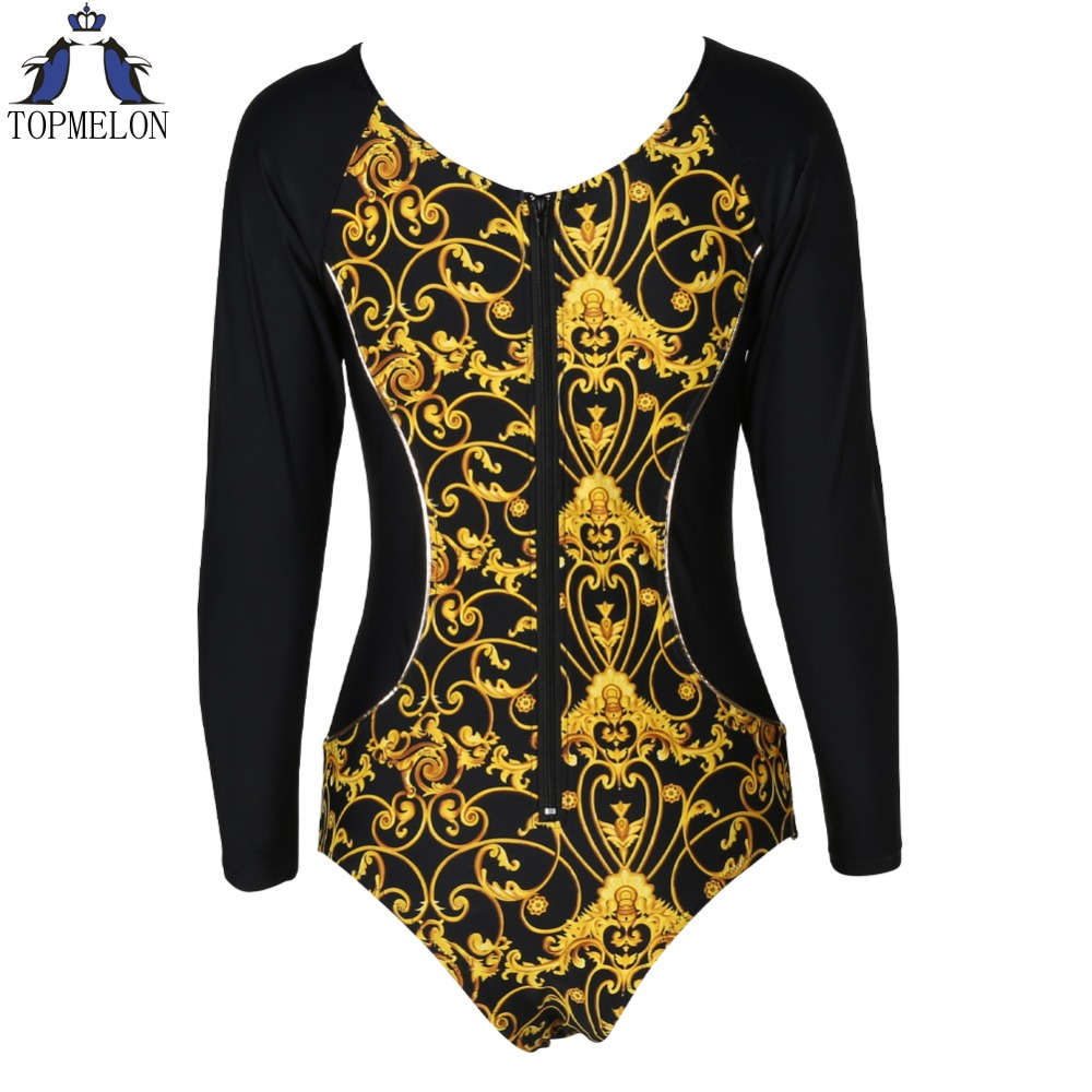 swimwear women one piece 2017 Swimwear Female one piece swimsuit Long sleeve bathing suit monokini Beachwear SwimSuits