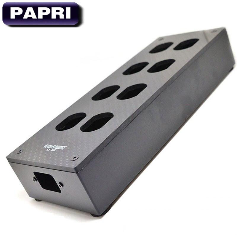 PAPRI оригинальный HiFi 8 Выход углеродного волокна США AC мощность разъем корпус Корпус Шасси DIY мощность дистрибьютор аудио усилители домашние