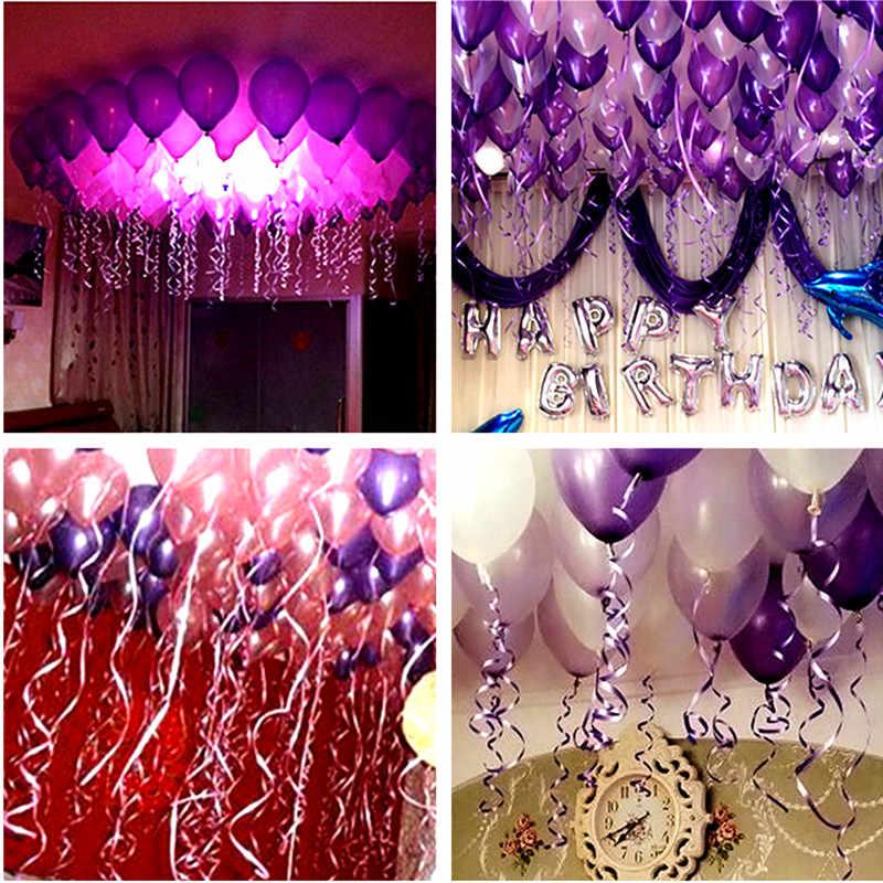 100 Yards Balloons Ribbon Latex Balloon Satin Ribbon Roll Wedding Birthday  Party Decorations Gifts DIY Decor Ballons Accessories
