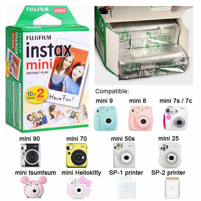 Papel Fotográfico Fujifilm Instax Mini Filmes 40 Folhas Borda Branca para Instax Mini 9 8 7S 70 90 25 câmera Instantânea 50s SP-1 SP-2 Impressora