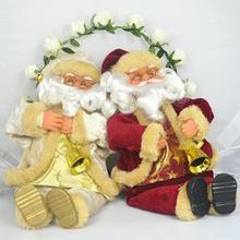 New Santa Claus Toy 25cm/10 inch Christmas Gift Doll Flannel Toys Xmas Decor -OI