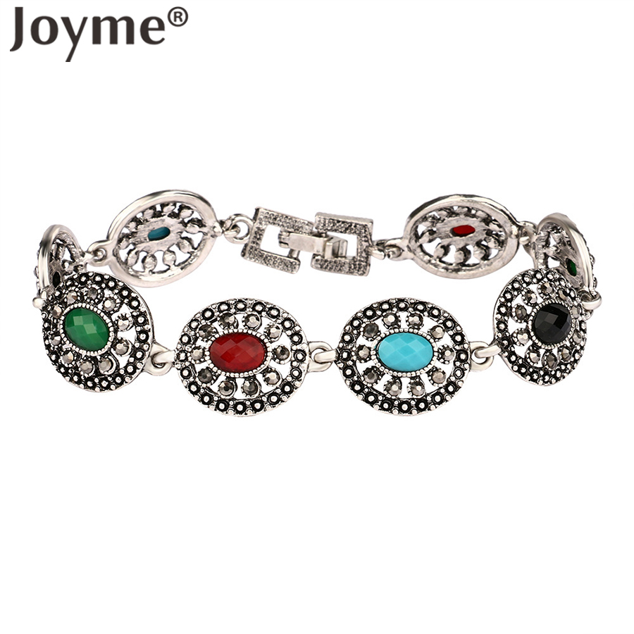 2016 Fashion Vintage Ancient Silver Bohemian Bracelets For Women Charms  Bracelet Femme Best Friend Jewellery New