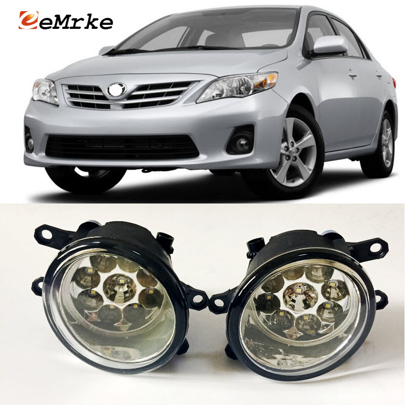 EEMRKE Car-Styling For Toyota Corolla 2007 2008 2009 2010 2011 2012 2013 9-Pieces Led Halogen Fog Lights 12V 55W Fog Head Lamp