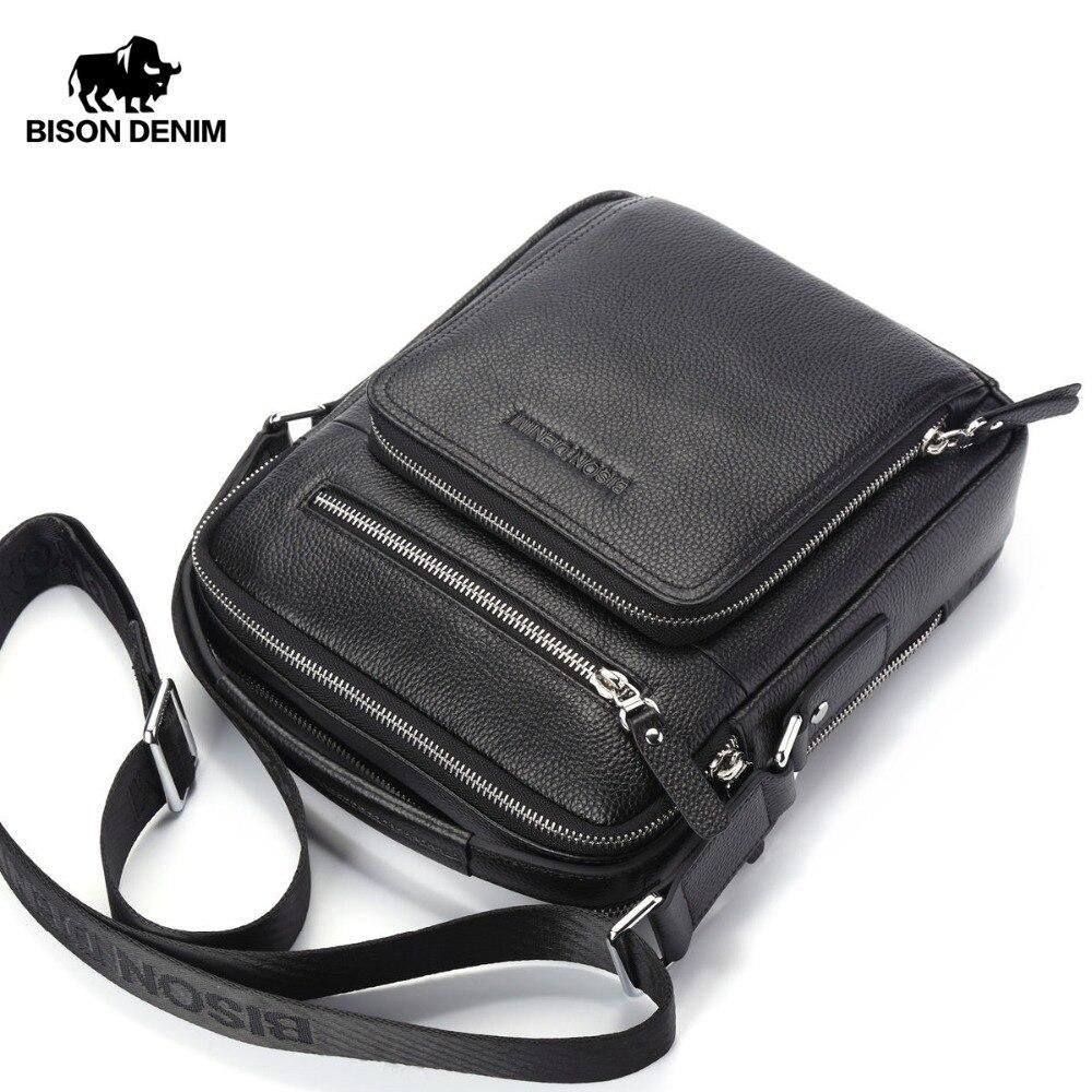 BISON DENIM Мужские сумки из натуральной кожи Женские сумки Мужская сумка Мужская сумка на плечо Мужские сумки для путешествий