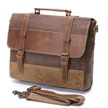 Briefcase Leather Men Briefcase Genuine Leather Waterproof C
