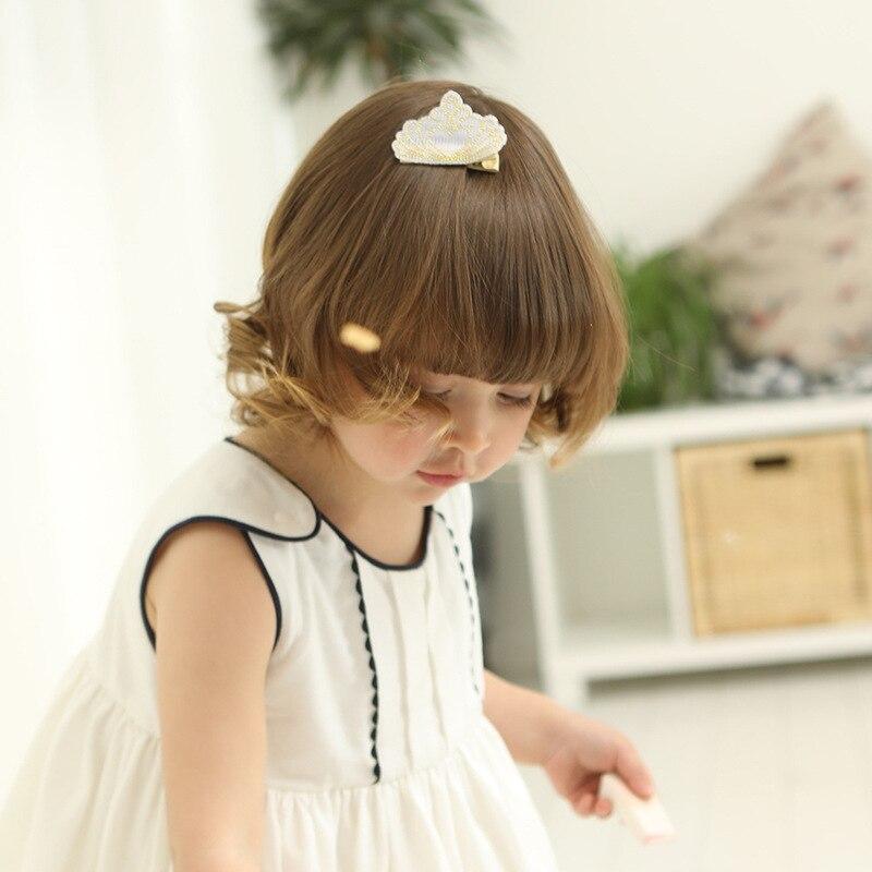 10pcs / lot hoge kwaliteit borduurwerk kroon haarspeldjes baby - Babykleding - Foto 3