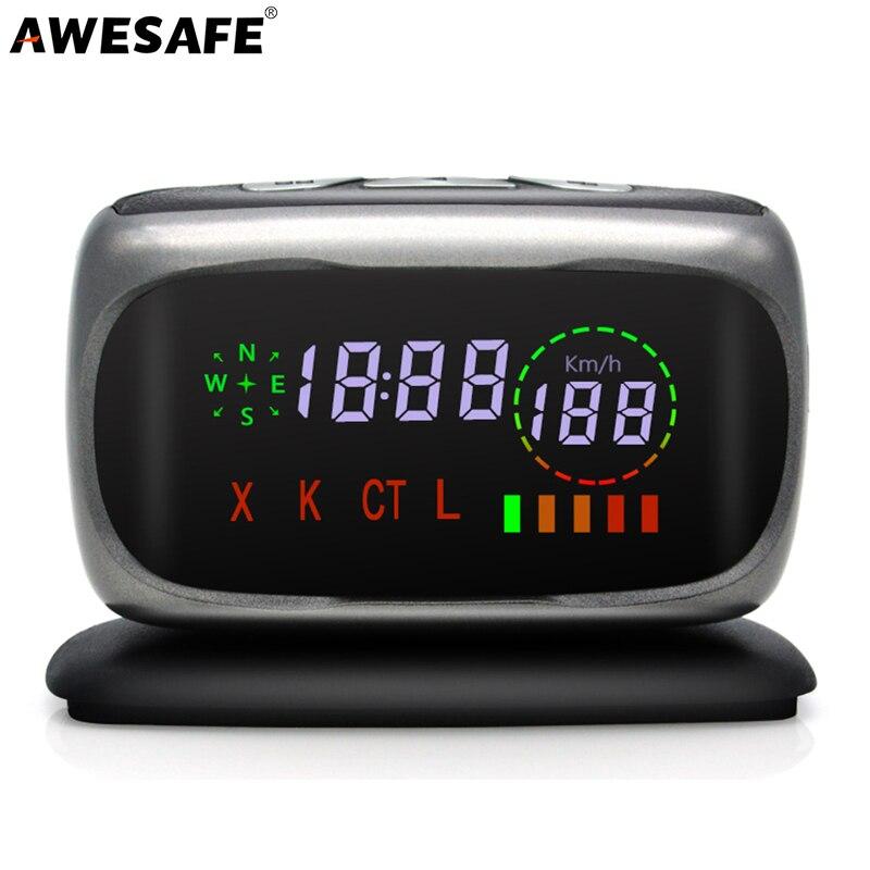 AWESAFE L5 Car Radar Detector Police Speed Russian Voice 360 Degree X K CT L antiradar Car Detectors браслеты police pj 25884blb 01 l