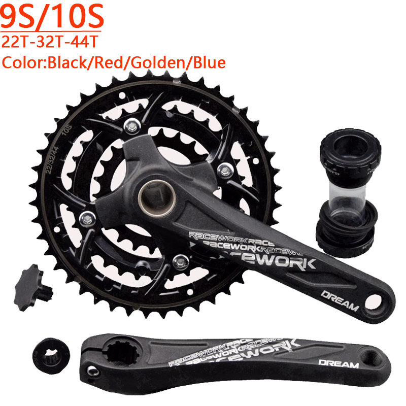 DREAM Bike Bicycle 27S 30S Crank Crankset Chain Wheel With BB 9speed 10speed Crank 170mm Hollow Tech Bicycle Parts