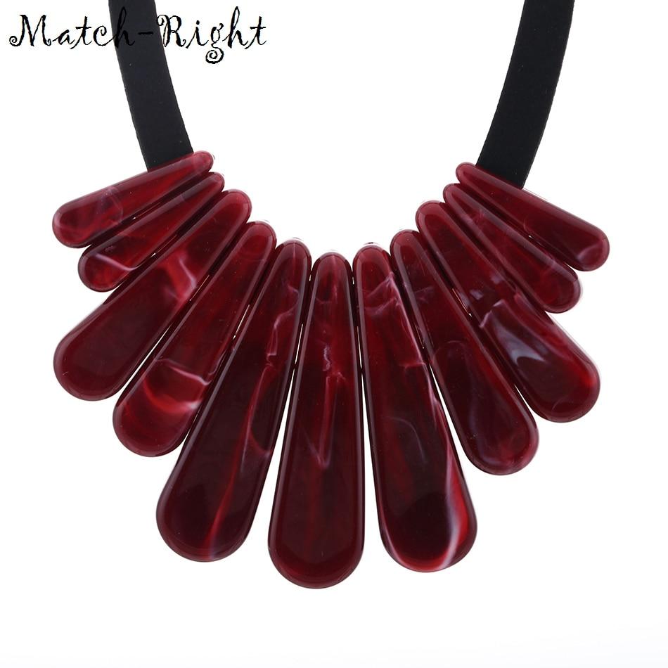 Match-Right Trendy Women Geometric Necklaces & Pendants Statement Neckl
