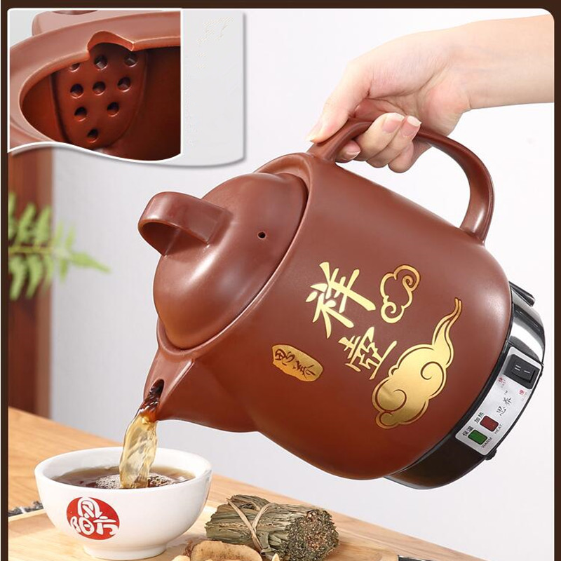220V Automatic Chinese Medicine Stewing Pot Household 3L 4L 5L Ceramic Decocting Herb Medicine Multi Cooker