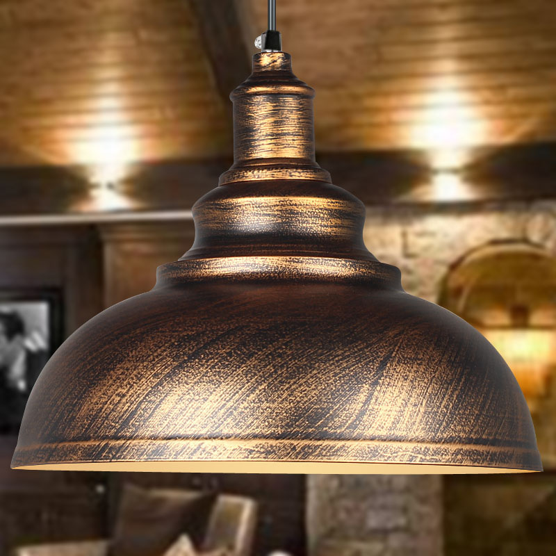 Rusty Retro Large Pendant Light Lamp Vintage Metal Ac 90 260v Lighting Fixtures Droplight For Bar Restaurant In Lights From