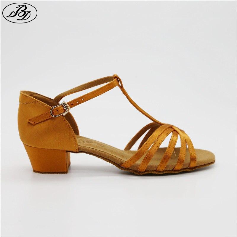 de4113ca3c Meninas Latina BD Sapatos de Dança 604 Cetim Macio Antiderrapante Sola de  Sapato Sandália Dança Desportiva
