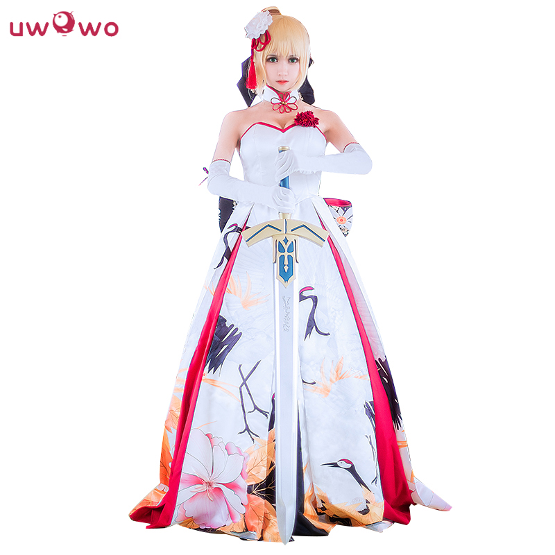 Saber Cosplay Fate/Grand Order Japanese Wedding Dress Kimono ...