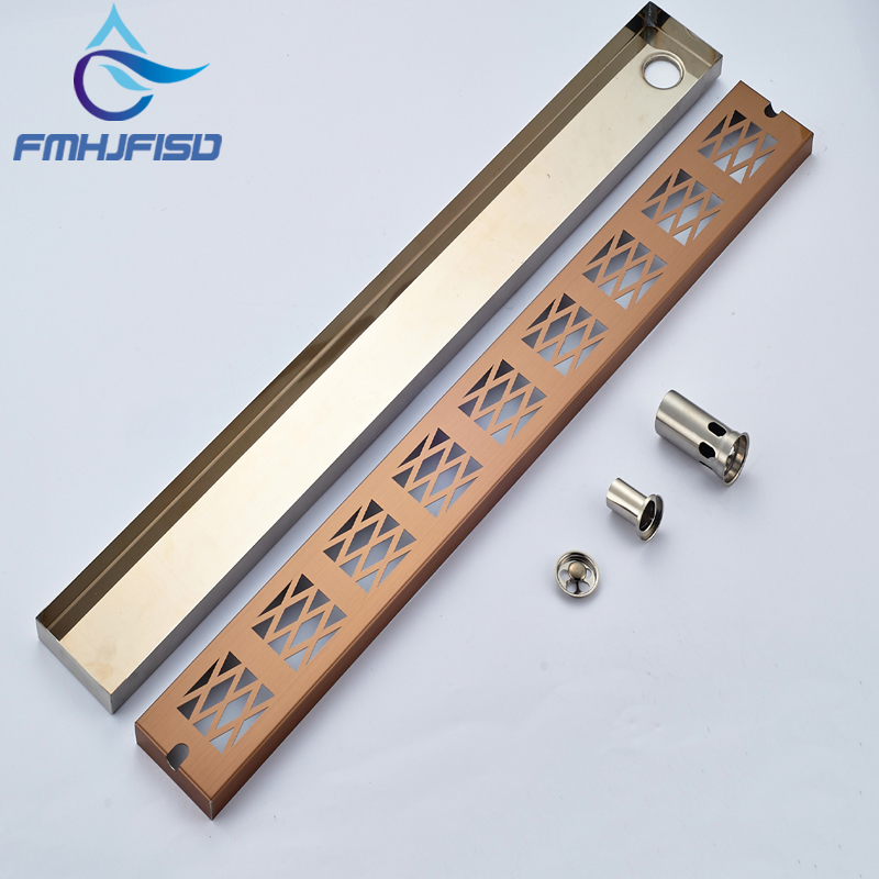 Wholesale And Retail Stainless Steel Bathroom Floor Drain Grill Square Shower Floor Drain Ground Leakage Grate Waste mayitr stainless steel linear shower ground floor drain grate mesh sink strainer bathroom tool 900mm