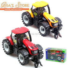 цена на Free Shipping Boby Toy 1:32  Alloy big farmer front With light and music toys for children car alloy car model Gifts for Boys