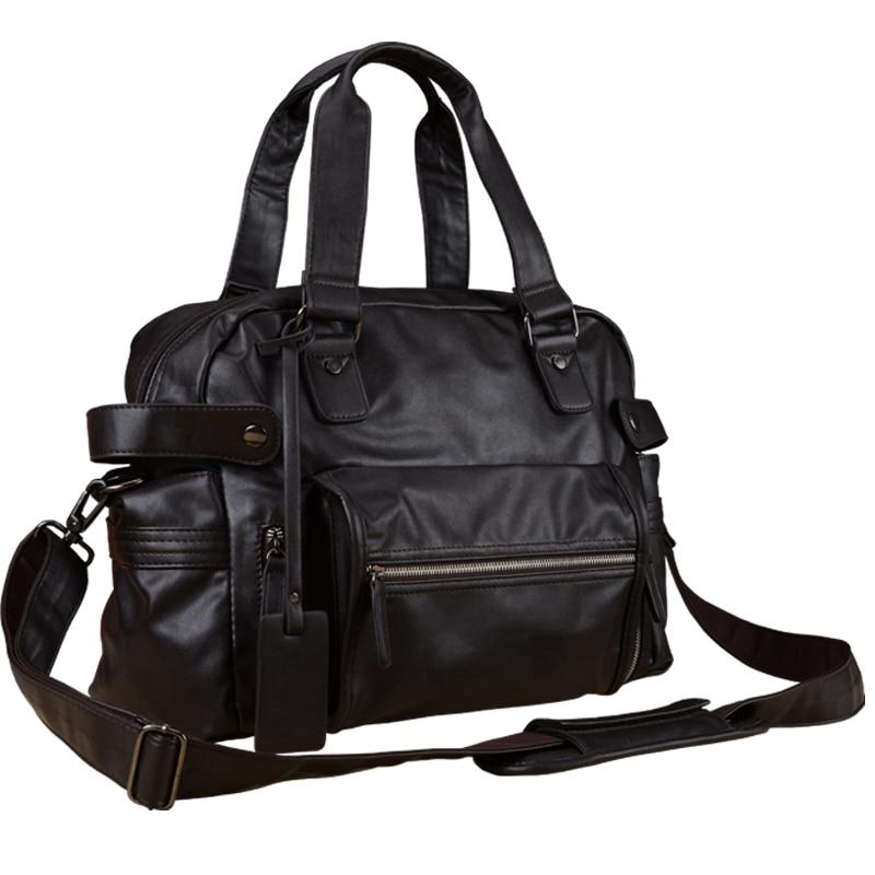 Men Messenger Bags Men Bag Bandolera Hombre Soft PU Leather Handbag Man Large Capacity Tote Travel Bags Business Male Crossbody