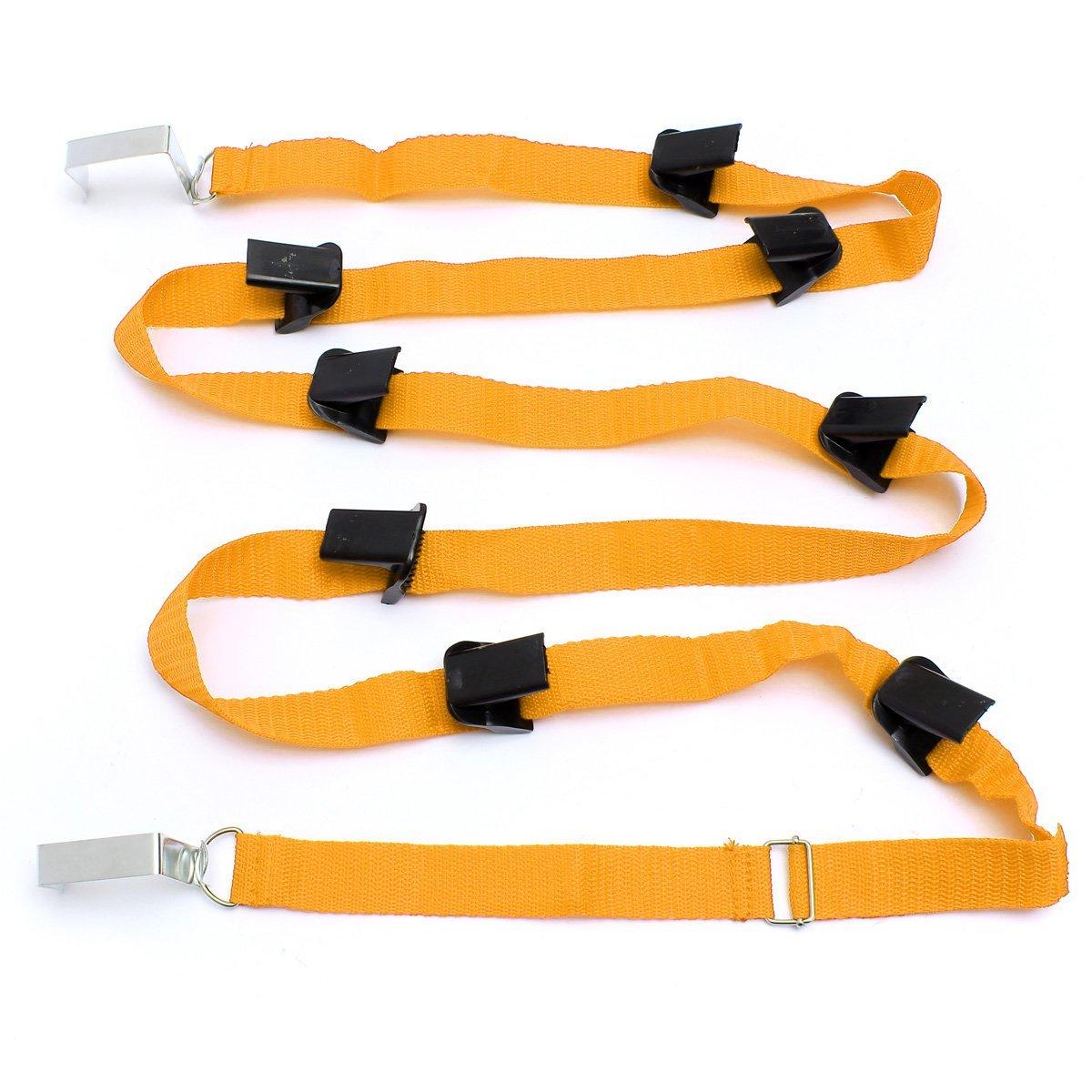 Hook Adjustable Buckle Strap Organizer Door Strap Lanyard Storage for Bags Hat Clothes, Orange