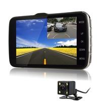 Otstrive 4.3 inch Car Truck Mini DVR Full HD 1080P Dual Lens Dash Cam ADAS LDWS Distance Warning Rear View Camera Parking DVR