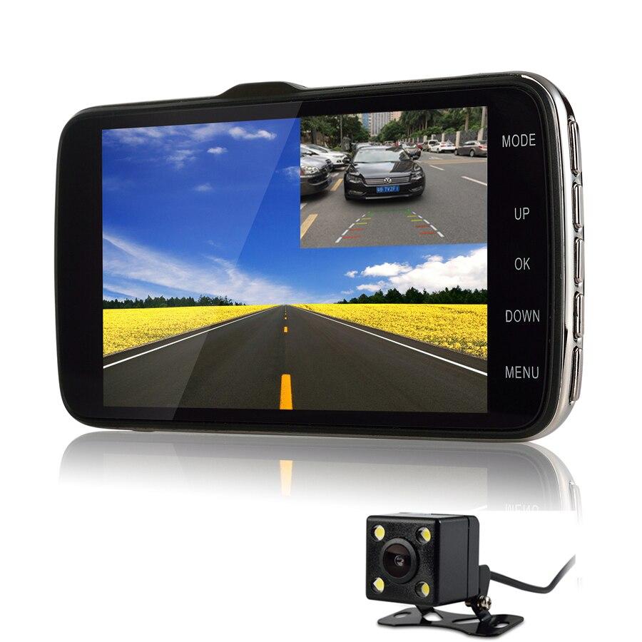 Udrive 4.3 inch Car Truck Mini DVR Full HD 1080P Dual Lens Dash Cam ADAS LDWS Distance Warning Rear View Camera Parking DVR