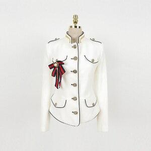 Image 5 - Женская куртка в винтажном стиле, элегантная однотонная куртка для отдыха, весна 2020