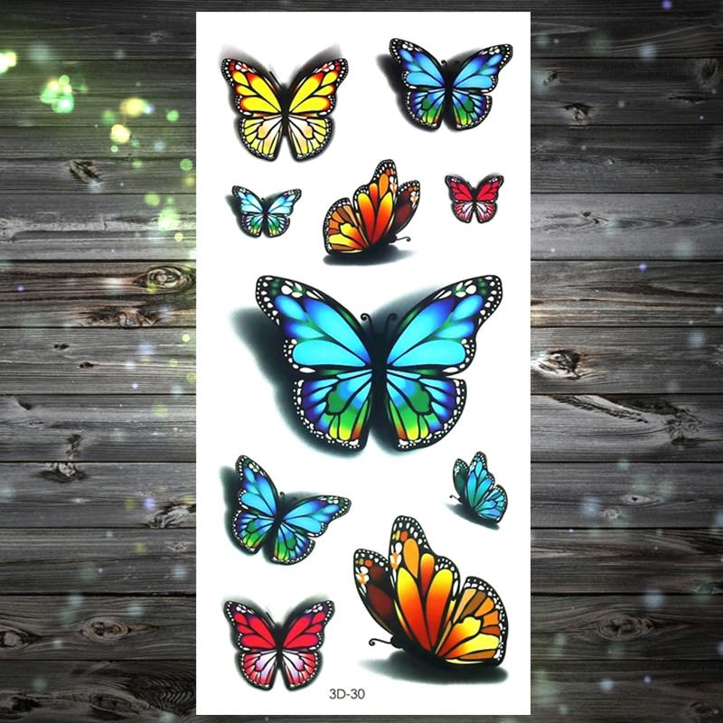 Y-XLWAN 3D Three-dimensional Pattern 30 Men's Creative Stickers Ladies Temporary Tattoo Disposable Waterproof Tattoo