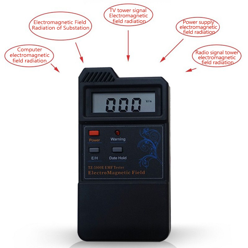 Electromagnetic Radiation Detector Dosimeter Tester Counter For Electric Field Radiation Magnetic Field Measuring Instruments household radiation test pen electromagnetic radiation tester sound and light alarm test pen detection measuring tools