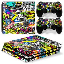 Bomb For PS4 Pro Sticker For Sony Playstation 4 Pro Console+2 Controller Skin Sticker For PS4 Pro Bombing Vinyl Game Accessory