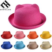 Los niños de moda sombreros de paja para las niñas de verano de los niños  bebé 9fe9b476d5b3