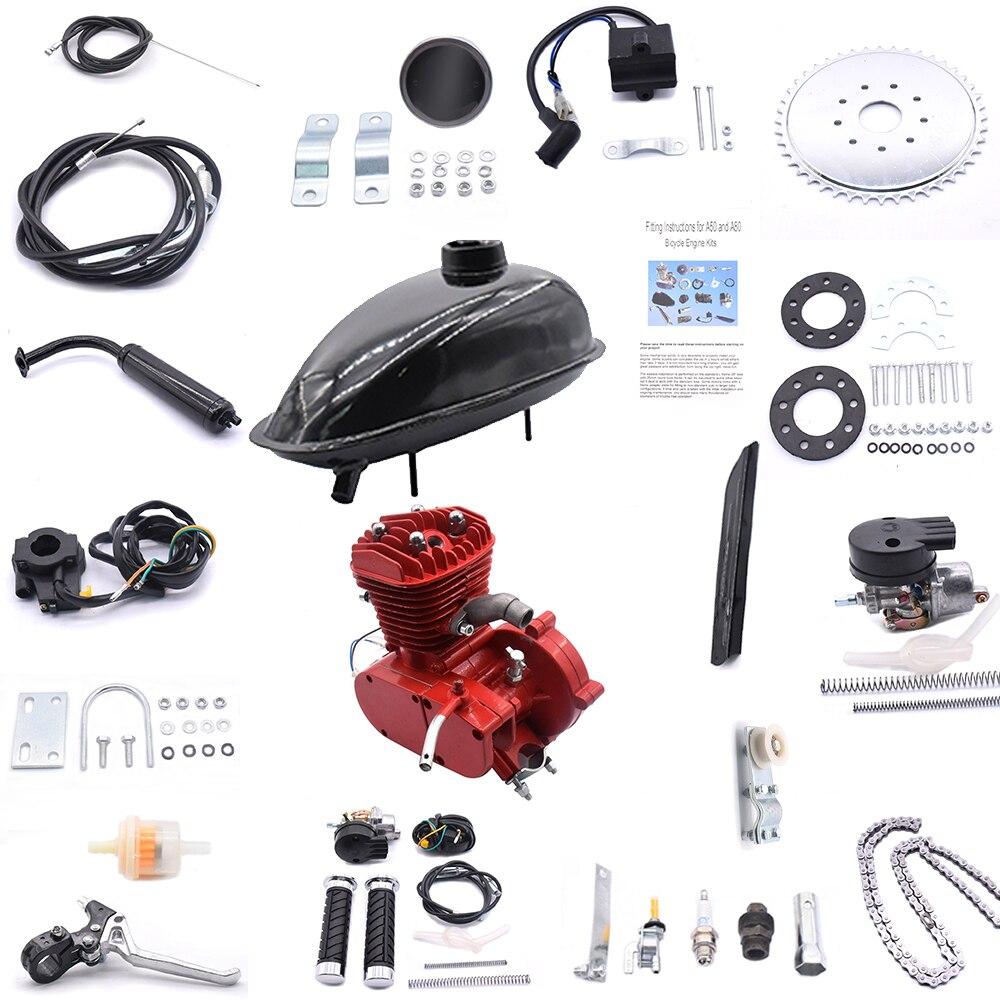 2-Stroke 80cc Engine Kit V-frame 24 26 28 Bicycles Electric Bicycle Conversion Kit 80CC Conversion Kit Electric Car Accesso