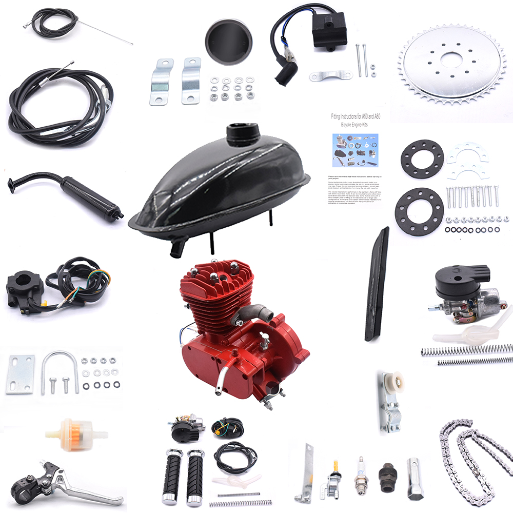 Bicycles Electric Modified Kit 2-stroke 80cc Engine Kit For 24