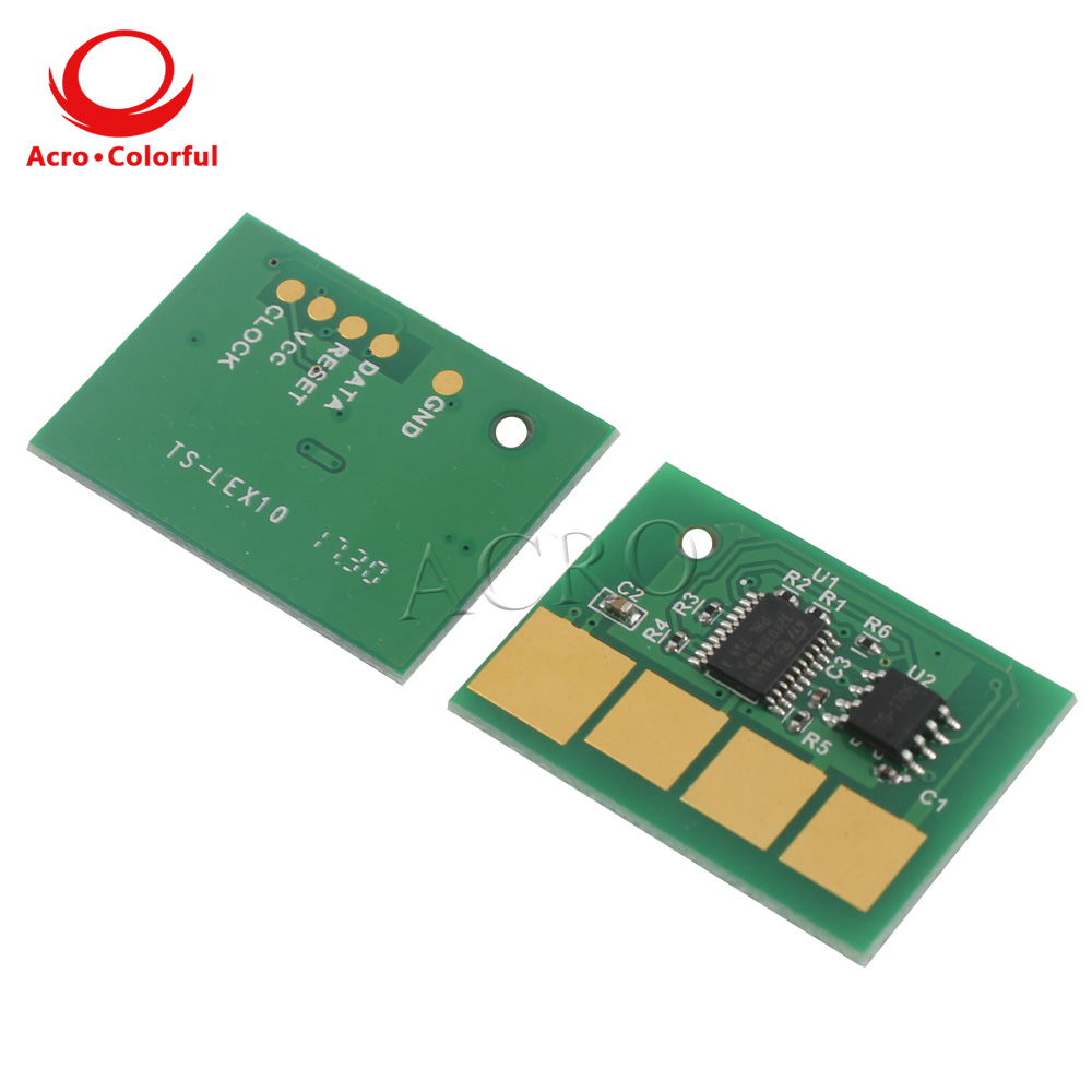 10pcs 25K printer chip for Lexmark X651 X652 X654 X656 X658 toner cartridge reset spare parts