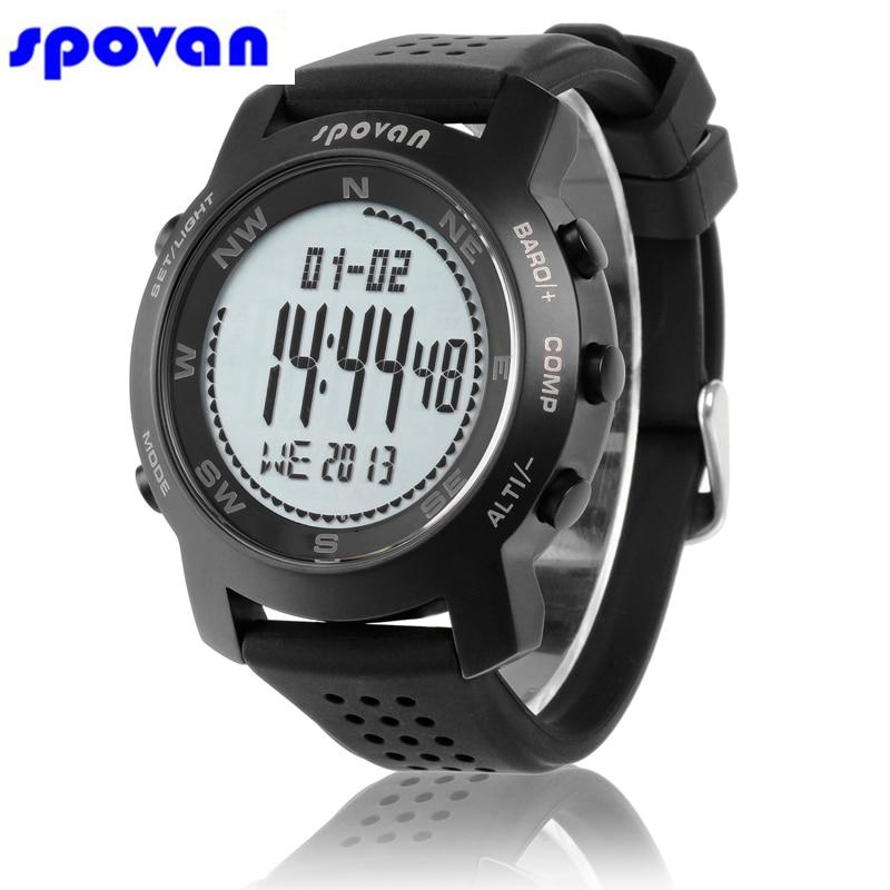 SPOVAN Luxury Brand Watches Relogio Digital Altimeter Barometer Compass Weather Forecast Chronograph Sport Watch Clock Man 2019