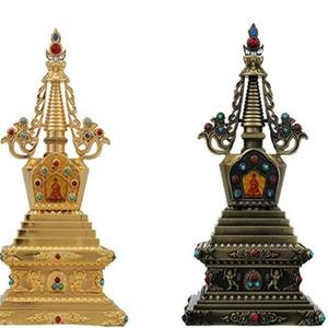 Exquisitely Carved Tibetan Buddhism Stupa Instrument Decoration 7-inch(China)