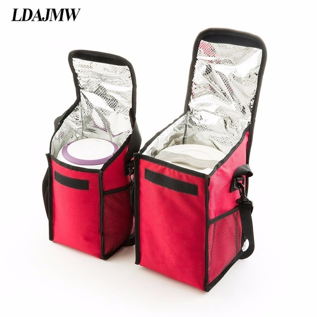 Ldajmw Practical Portable Ice Bags Waterproof Oxford Cooler Bag Lunch Leisure Picnic Packet Bento Box