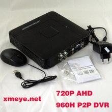 НОВЫЙ 4 Ch-канальный H.264 Домашняя Сеть Мини ВИДЕОНАБЛЮДЕНИЯ 1080 P HDMI NVR AHD DVR P2P Безопасности Видеорегистратор