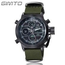 купить GIMTO Top Brand Luxury Men Watch Shock Digital Watches Army Male Clock Waterproof Stopwatches LED Wristwatch Relogio Masculino по цене 1055.31 рублей