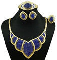 new design jewelry sets for african women fashion jewelry sets  gold sets blue red necklace
