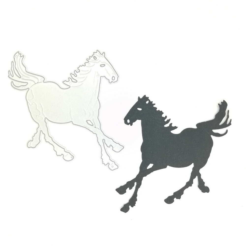 Horse Shape Cutting Die Embossing Stencil DIY Paper Craft Scrapbooking Stamping Plate