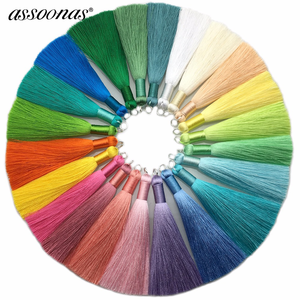 Assoonas L63/8.5cm/Silk Tassel/accessories Parts/embellishments/diy Earrings/jewelry Findings & Components/hand Made/2pcs