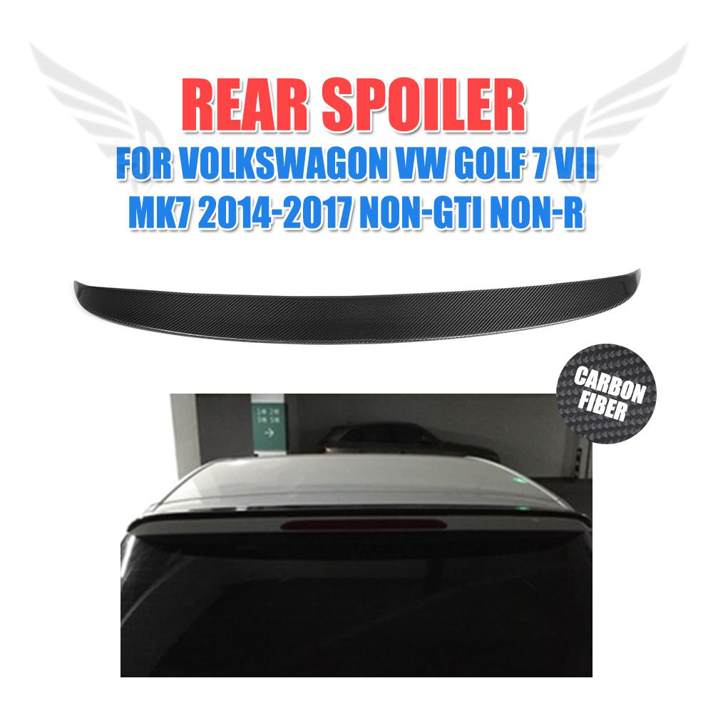 Carbon Fiber O Style Rear Roof Lip Spoiler Wing Fit For VW Golf VII 7 MK7 Standard Non-R Non-GTI Rear Window Spoiler2014-17 a4 b7 rear roof lip spoiler wing for audi a4 b7 2005 2008 carbon fiber abt style