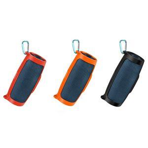 Image 2 - Silicone Case Cover Skin Met Riem Karabijnhaak voor JBL Lading 4 Draagbare Draadloze Bluetooth Speaker