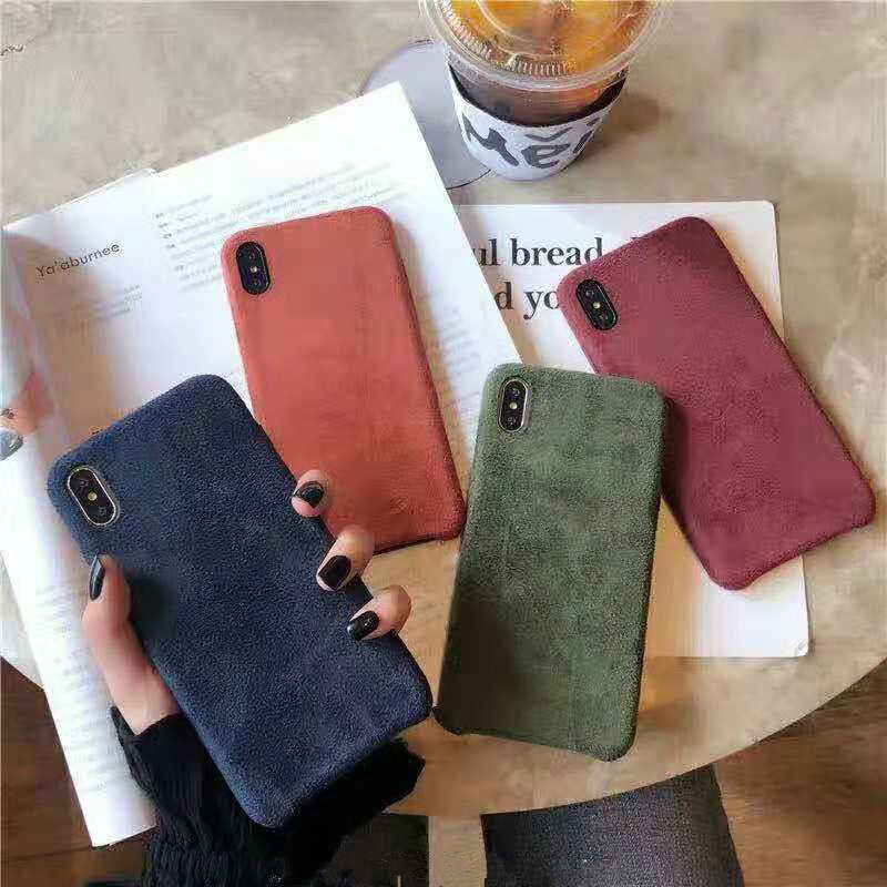 Case For Plush-Cover Suede Soft-Phone 6s-Plus Fashion Back-Shell Xr-X-7 8 Capa Solid-Color